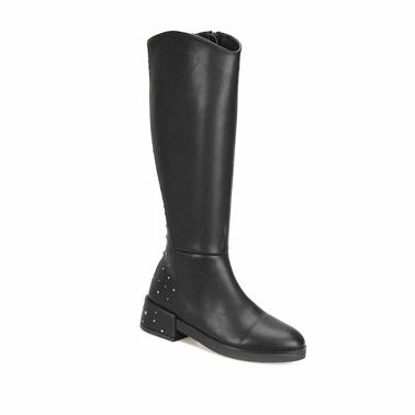 Butigo Kalın Topuklu Çizme Siyah